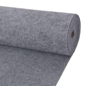 Messeteppich Rillen 1,6×15 m Grau