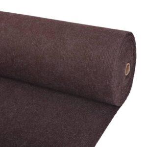 Messeteppich Rillen 1,6×10 m Braun