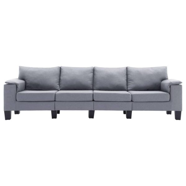 4-Sitzer-Sofa Hellgrau Stoff