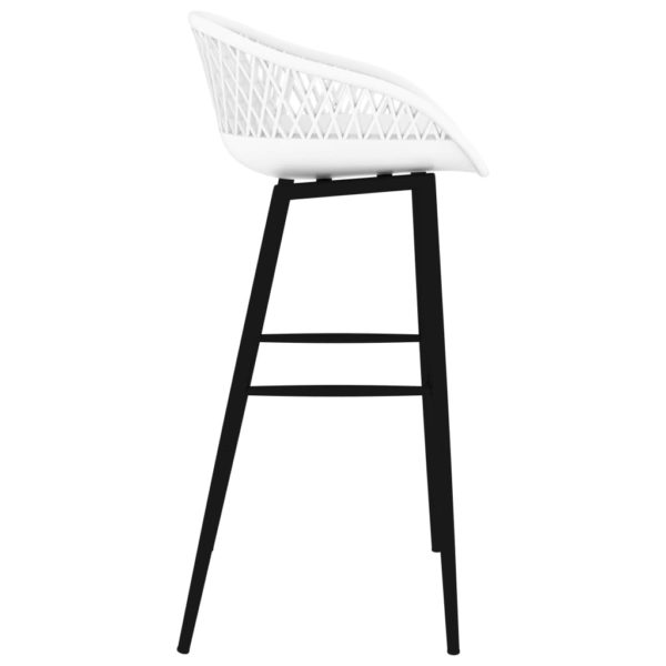 Barstühle 2 Stk. Weiß