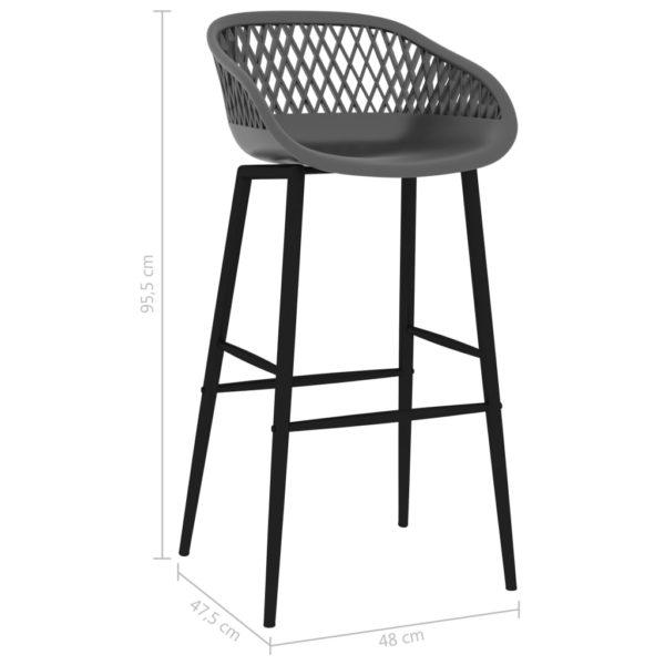 Barstühle 2 Stk. Grau