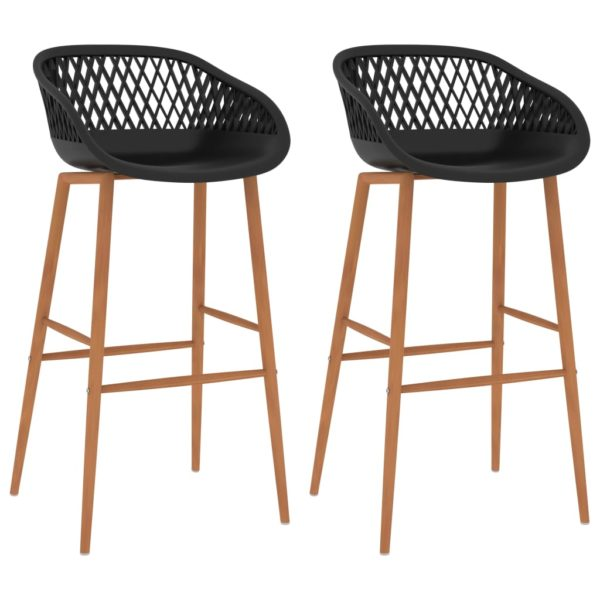 Barstühle 2 Stk. Schwarz