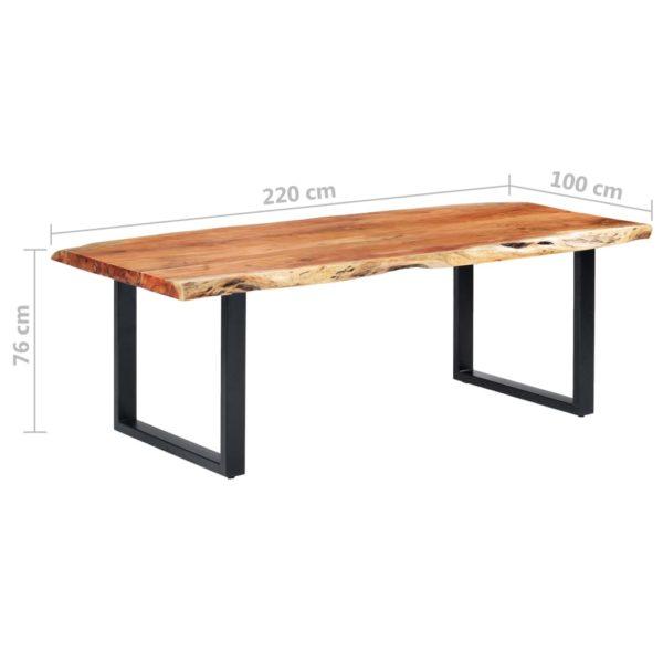 Esstisch mit Baumkanten Akazie Masivholz 220 cm 6 cm