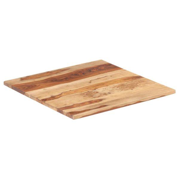 Tischplatte Massivholz Palisander 25-27 mm 70×70 cm