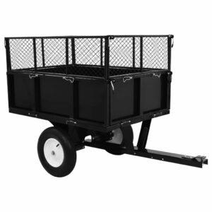 Kippanhänger für Rasentraktor 300 kg Last