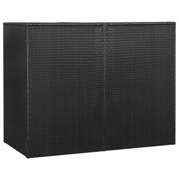 Mülltonnenbox für 2 Tonnen Schwarz 153 x 78 x 120 cm Poly Rattan