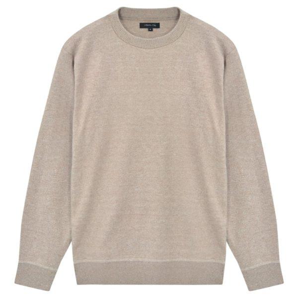 5 Stk. Herren Pullover Sweaters Rundhals Beige L