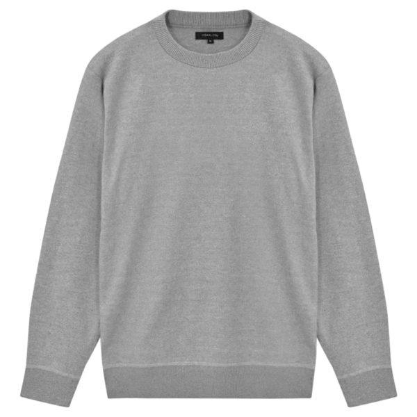 5 Stk. Herren Pullover Sweaters Rundhals Grau L