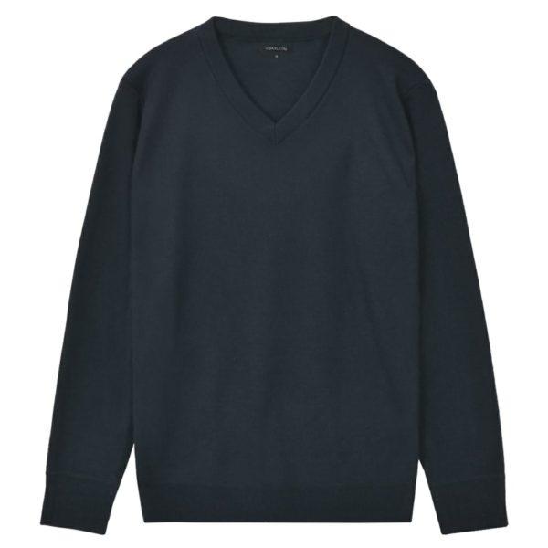 5 Stk. Herren Pullover Sweaters V-Ausschnitt Marineblau M