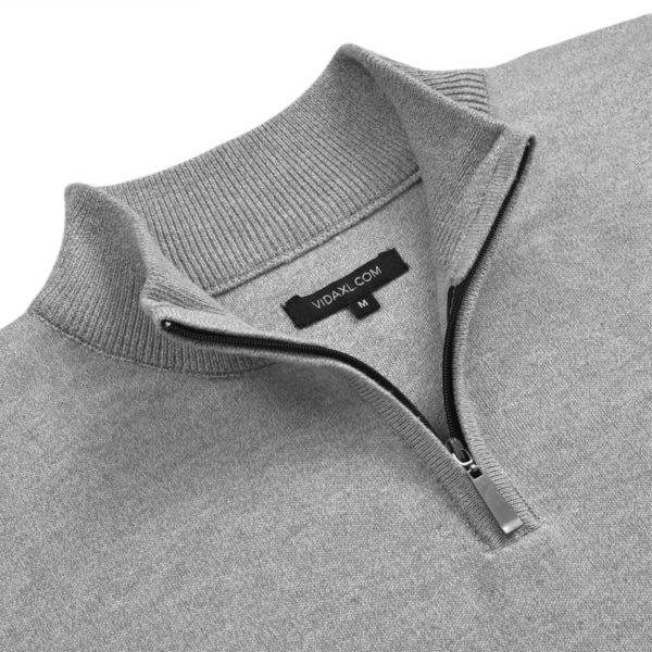 5 Stk. Herren Pullover Sweaters mit Reißverschluss Grau L