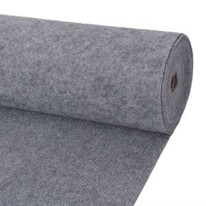 Messeteppich Rillen 1,6×20 m Grau