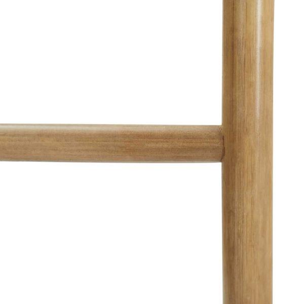 Handtuchleiter mit 5 Sprossen 170 cm Bambus