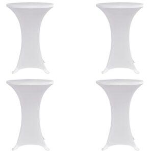 Stehtischhussen 4 Stk. Ø 60 cm Weiß Stretch