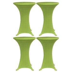 Stretch-Tischhussen 4 Stk. 60 cm Grün