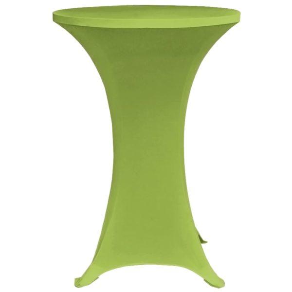 Stretch-Tischhussen 4 Stk. 80 cm Grün