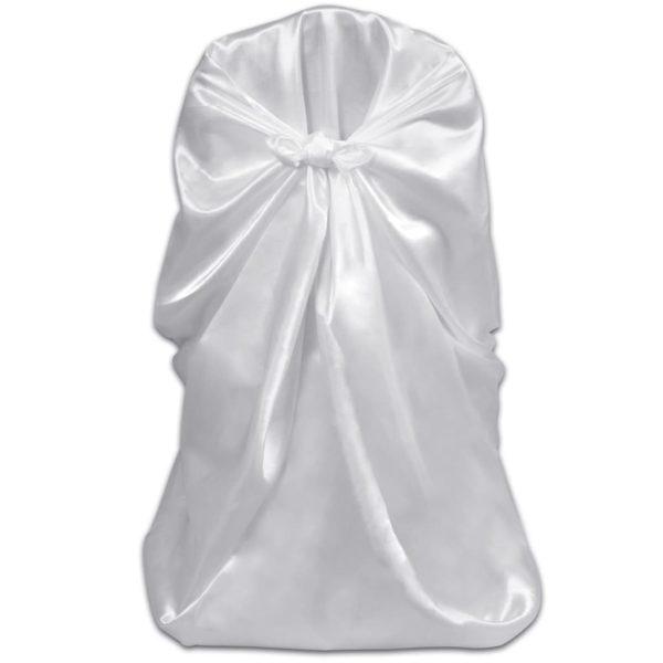 Stuhlhussen für Hochzeit Bankett 12 Stk. Weiß