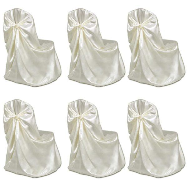 Stuhlhussen für Hochzeit Bankett 12 Stk. Creme