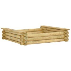 Sandkasten 120 x 120 x 27 cm Kiefernholz Imprägniert