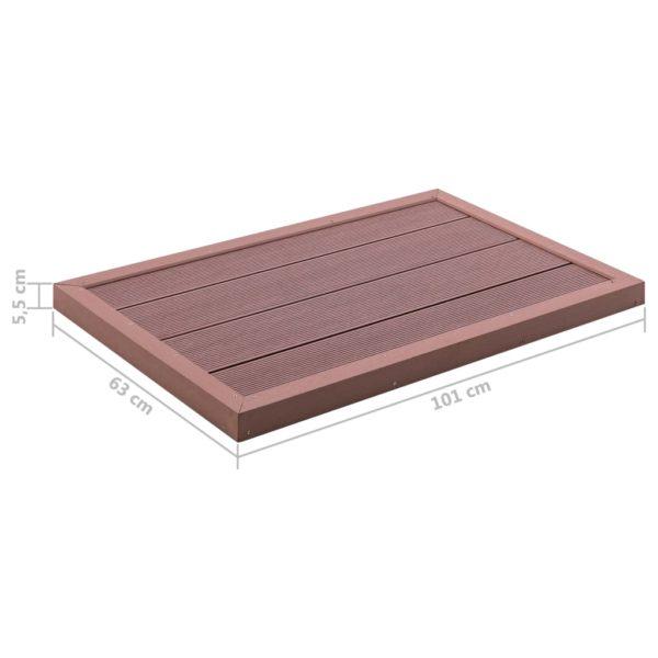 Bodenelement für Solardusche Braun 101x63x5,5 cm WPC