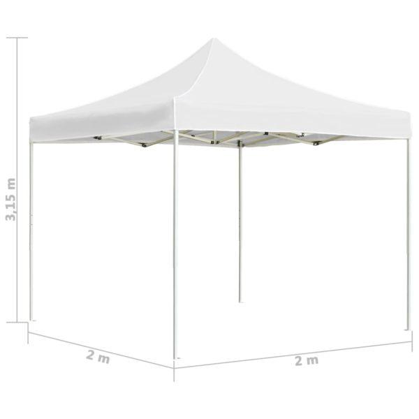 Profi-Partyzelt Faltbar Aluminium 2×2 m Weiß