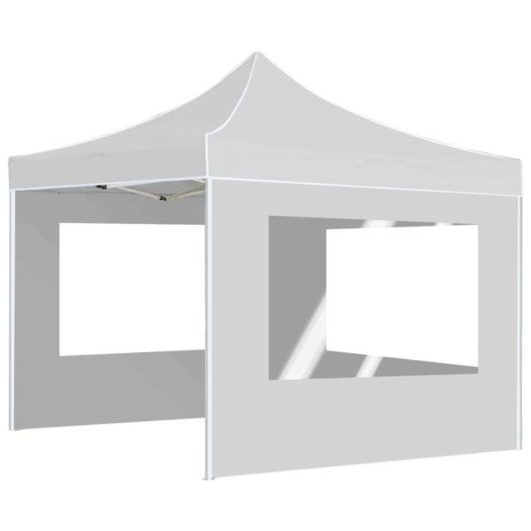 Profi-Partyzelt Faltbar mit Wänden Aluminium 2×2m Weiß