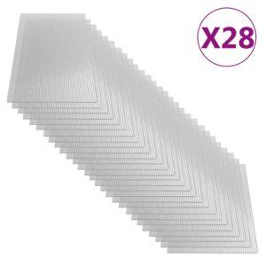 Polycarbonatplatten 28 Stk. 4 mm 121 x 60 cm