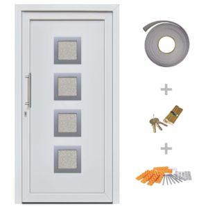 Haustür Weiß 108×208 cm