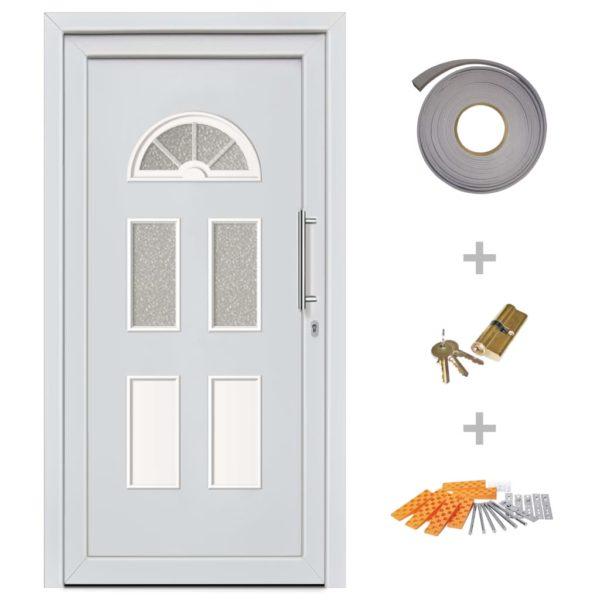Haustür Weiß 88×208 cm