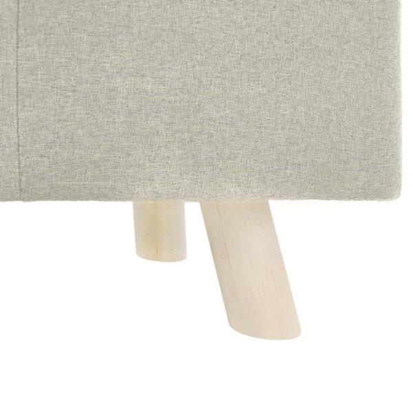 Fußhocker Creme 60×28×26 cm Stoff