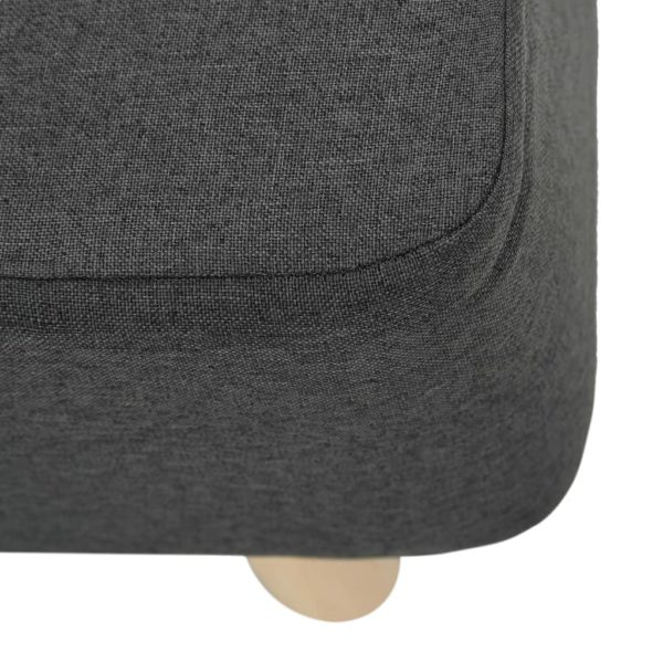 Fußhocker Dunkelgrau 60×28×26 cm Stoff