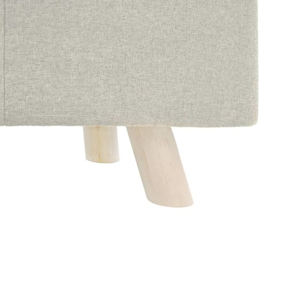 Fußhocker Creme 80×28×26 cm Stoff