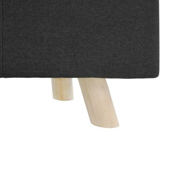 Fußhocker Dunkelgrau 80×28×26 cm Stoff