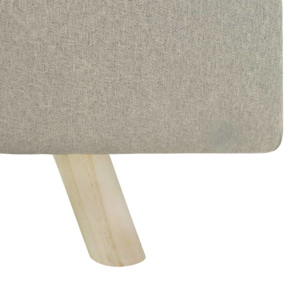 Fußhocker Creme 120×28×26 cm Stoff