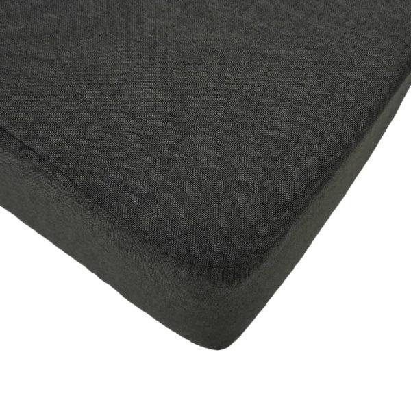 Fußhocker Dunkelgrau 120×28×26 cm Stoff
