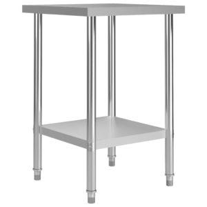 Küchen-Arbeitstisch 60 x 60 x 85 cm Edelstahl