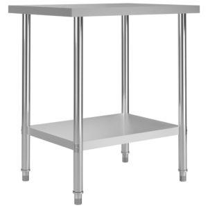Küchen-Arbeitstisch 80 x 60 x 85 cm Edelstahl