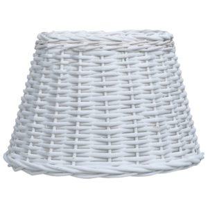 Lampenschirm Korbweide 38 x 23 cm Weiß