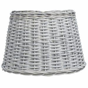 Lampenschirm Korbweide 50 x 30 cm Braun