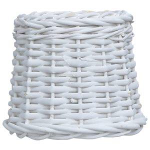 Lampenschirm Korbweide 20 x 15 cm Weiß