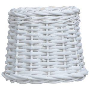 Lampenschirm Korbweide 25 x 17 cm Weiß
