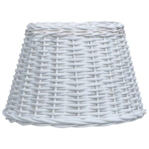 Lampenschirm Korbweide 40 x 26 cm Weiß