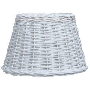 Lampenschirm Korbweide 50 x 30 cm Weiß