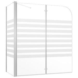 Duschabtrennung 120x68x130 cm Hartglas Streifen