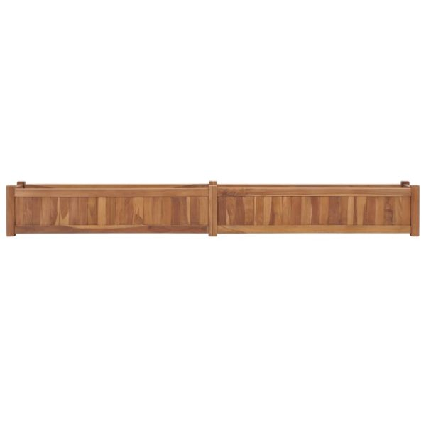 Hochbeet 200×30×25 cm Massivholz Teak