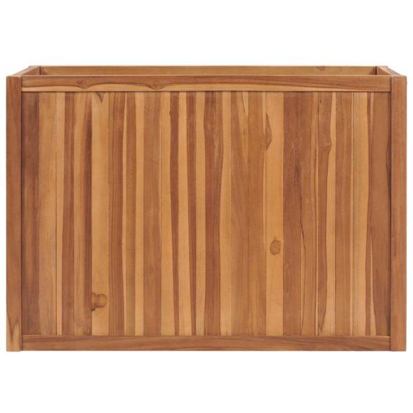Hochbeet 100×50×70 cm Massivholz Teak