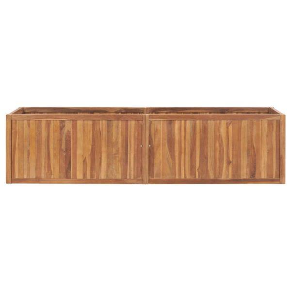 Garten-Hochbeet 200 x 50 x 50 cm Massivholz Teak