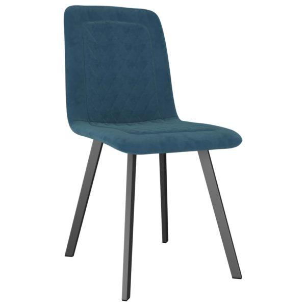Esszimmerstühle 6 Stk. Blau Samt