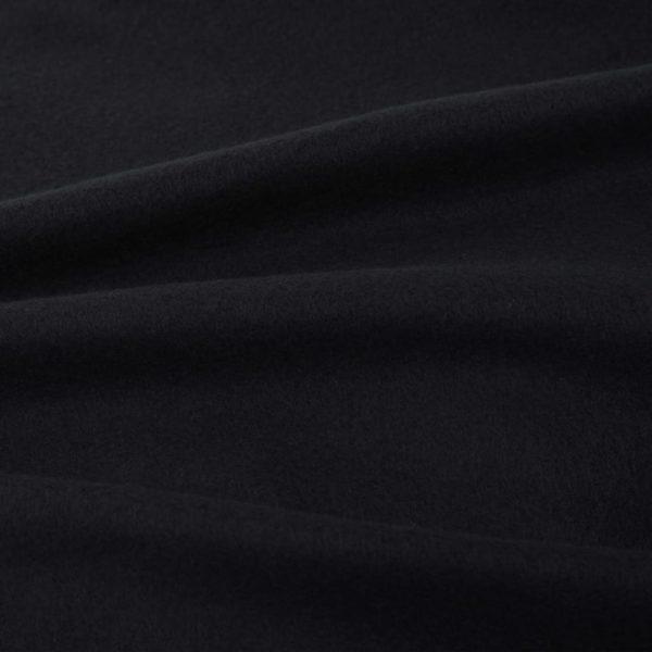 5-tlg. Bettwäsche-Set Fleece Schwarz 200×200/80×80 cm