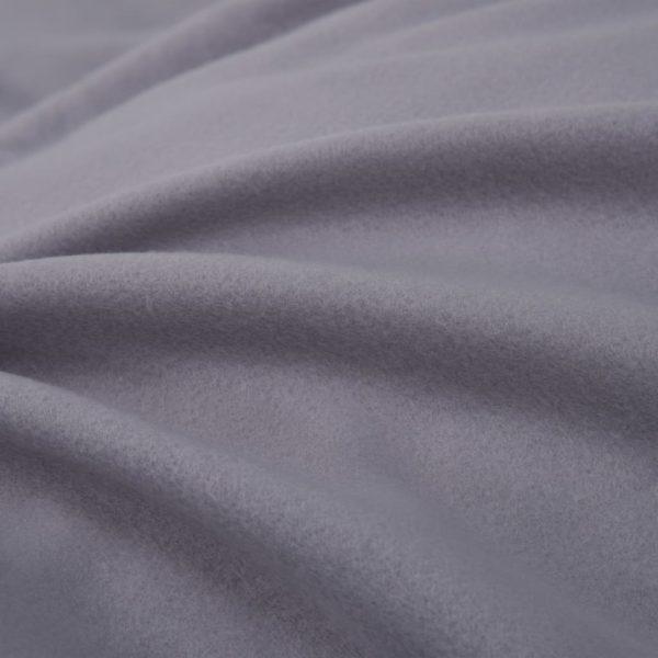 5-tlg. Bettwäsche-Set Fleece Grau 200×200/80×80 cm