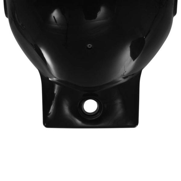 Bootsfender 2 Stk. Schwarz 69 x 21,5 cm PVC